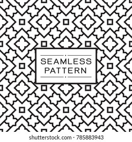 Vector seamless pattern and modern stylish texture with repeating Thai pattern style.