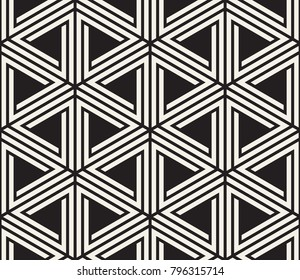 Vector seamless pattern. Modern stylish abstract texture. Repeating geometric tile from striped elements