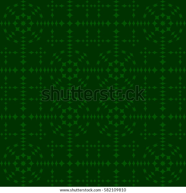 Vector seamless pattern. Modern stylish texture. Repeating geometric tracery. Contemporary graphic design. Green color Background