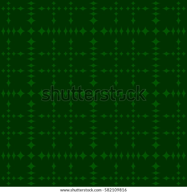 Vector seamless pattern. Modern stylish texture. Repeating geometric tracery. Contemporary graphic design. Green color Background.