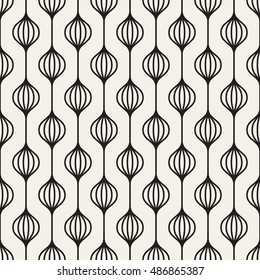 Vector seamless pattern. Modern texture. Repeating abstract background with garlands.