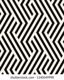 Vector seamless pattern. Modern zigzag texture. Repeating geometric background with bold hexagonal zigzag.