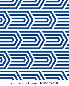 Vector seamless pattern with monochrome striped elements. Abstract geometric texture. Stylish background with  repeating geometric shapes.