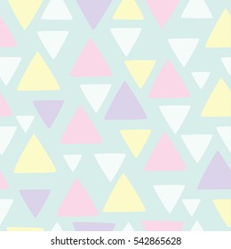 vector seamless pattern in pastel colors with geometric shapes. cute the background