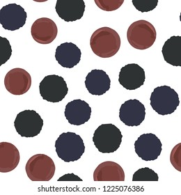 Vector seamless pattern polka dots two in colors. Elements are not cropped. Pattern under the mask. Perfect design for posters, cards, textile, web etc.