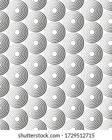 Vector seamless pattern in random circles.