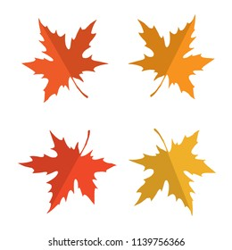 Vector seamless pattern with red, yellow and orange maple leaves. Colors of autumn nature for your design
