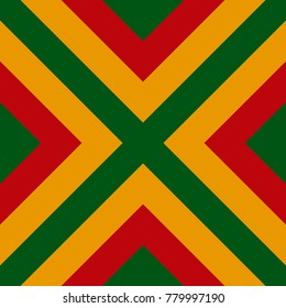 Vector seamless pattern of Reggae colors flag for cushion, blanket, pillow, plaid, t-shirt graphics, cloth, poster
