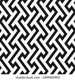 Vector seamless pattern. Regular abstract striped texture. Geometric pattern of zigzag lines.