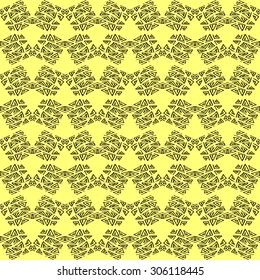 Vector seamless pattern. Repeating geometric tiles with zigzag hand drawn elements. Modern stylish texture