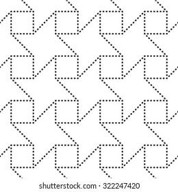 Vector seamless pattern, repeating geometric tiles