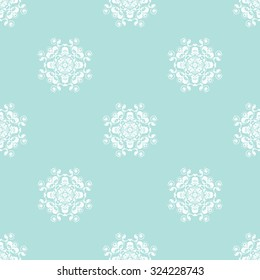 Vector seamless pattern. Repeating geometric. Powder Blue Seamless pattern.