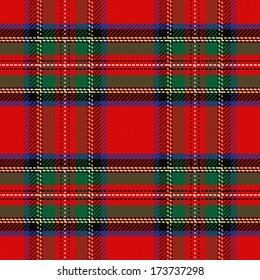 vector seamless pattern Scottish tartan Royal Stewart