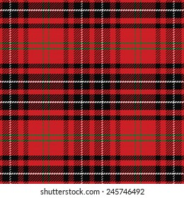 vector seamless pattern Scottish tartan, red and green, blue and yellow