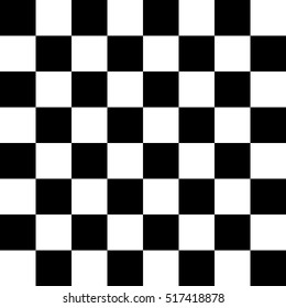 Vector Seamless Pattern Simulates A Black And White Chessboard