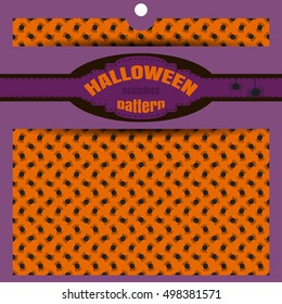 Vector seamless pattern with spiders to Halloween holiday in the package.