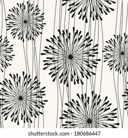 Vector seamless pattern with spots. Modern repeating texture. Fancy print with stylized flowers.
