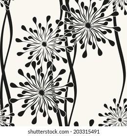 Vector seamless pattern with spots. Modern repeating texture. Fancy print with stylized flowers