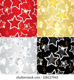 vector seamless pattern with the stars