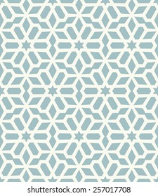 Vector seamless pattern. Stylish fabric print with eastern geometric ornament.