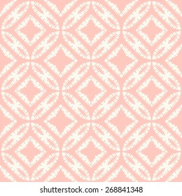 Vector seamless pattern. Stylish fabric print with abstract ragged design.