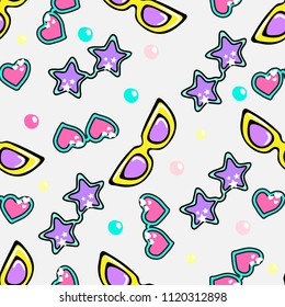 Vector seamless pattern with suglasses