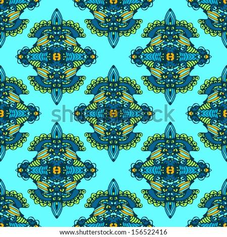 vector seamless pattern textile damask design stock vector royalty