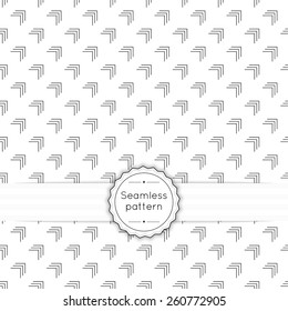 Vector seamless pattern with vintage old banner and ribbon. Repeating geometric shapes, diagonal, line, arrow