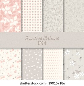 Vector seamless patterns.
