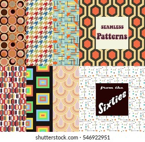 Vector Seamless Patterns from the Sixties Vintage Wallpapers Set