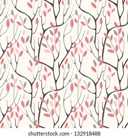 Vector seamless pattern.Stylish texture. Endless floral background
