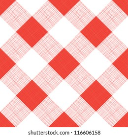 Vector Seamless Picnic Tablecloth Pattern