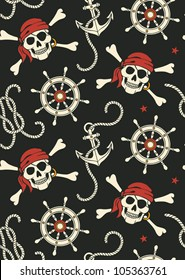 vector seamless with pirates