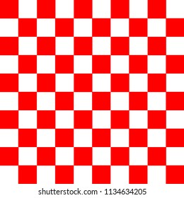vector of seamless red and white square checker pattern