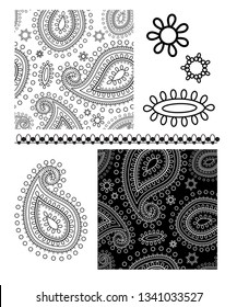 Vector seamless repeat Paisley design