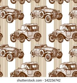 vector seamless retro automobile pattern