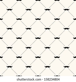Vector seamless retro pattern, with mustache. Can be used for wallpaper, pattern fills, web page background