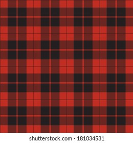 vector seamless retro red squared fabric, background