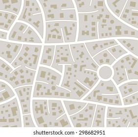 vector seamless road city map