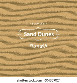 Vector seamless sand texture background with natural waves