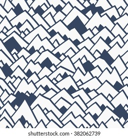 vector seamless simple abstract background. The pattern of the mountains. Cute modern design for kids