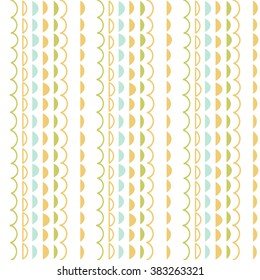 Vector seamless simple geometric pattern  with ornamental stripes. Borders, dividers, ribbons set.