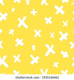 vector seamless simple X pattern on contrasting background. For paper, fabric, textile, wallpaper, backgrounds.