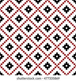 Vector seamless slavic ethnic (belorussian, russian) pattern