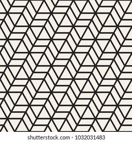 Vector seamless stripes pattern. Modern stylish texture with monochrome trellis. Repeating geometric hexagonal grid. Simple lattice design.