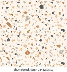 Vector seamless terrazzo texture. Venetian floor background