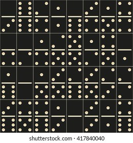 vector seamless texture of black domino tiles. it can be used for wrapping paper, wall paper, fabrics, etc.