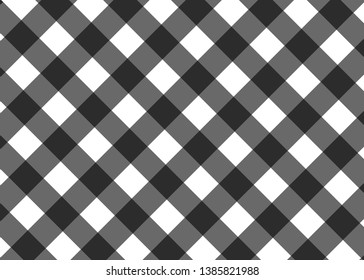 Vector seamless texture with diagonal vichy cage