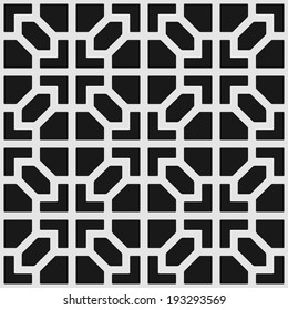 Vector seamless texture: endless abstract monochrome geometric pattern.