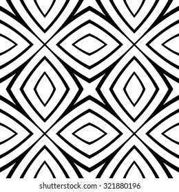 Vector seamless texture of lines and geometric shapes.